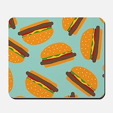 Cute Burger Pattern Mousepad