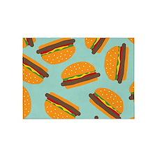 Cute Burger Pattern 5'x7'Area Rug