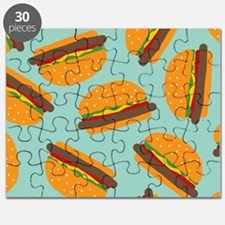 Cute Burger Pattern Puzzle