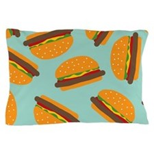 Cute Burger Pattern Pillow Case