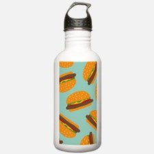 Cute Burger Pattern Water Bottle