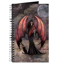 Autumn Mystique Gothic Fairy and Cat Art Journal