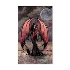 Autumn Mystique Gothic Fairy and Cat Art Decal