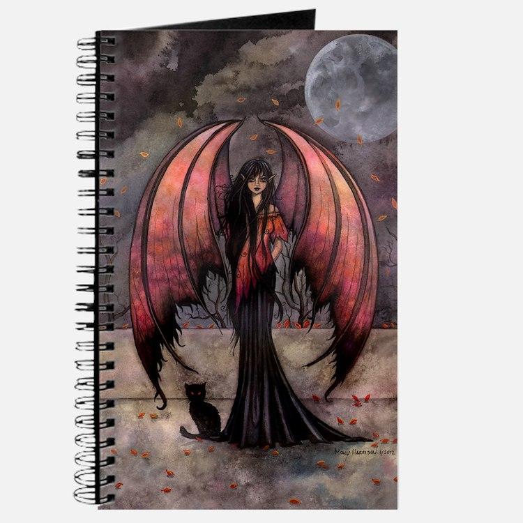 Autumn Mystique Gothic Fairy and Cat Art Journal