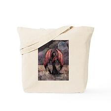 Autumn Mystique Gothic Fairy and Cat Art Tote Bag