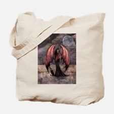 Autumn Mystique Gothic Fairy and Cat Art Tote Bag