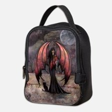 Autumn Mystique Gothic Fairy and Cat Art Neoprene