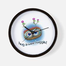 Hoots Toots Haggis 'Hugs' Wall Clock