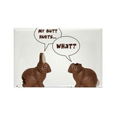 Chocolate Easter Bunny Rabbits Butt Hurts Magnets