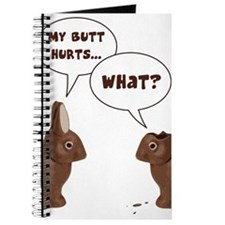 Chocolate Easter Bunny Rabbits Butt Hurts Journal