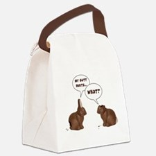 Chocolate Easter Bunny Rabbits Butt Hurts Canvas L