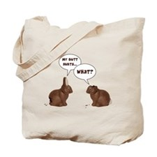 Chocolate Easter Bunny Rabbits Butt Hurts Tote Bag