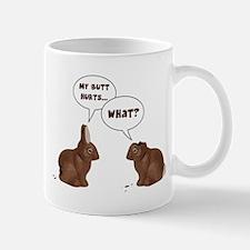 Chocolate Easter Bunny Rabbits Butt Hurts Mugs