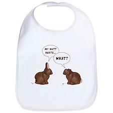 Chocolate Easter Bunny Rabbits Butt Hurts Bib
