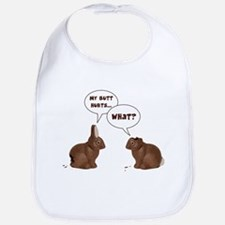 Chocolate Easter Bunny Rabbits Butt Hurts Bib