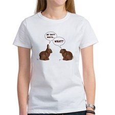 Chocolate Easter Bunny Rabbits Butt Hurts T-Shirt