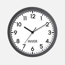 Inver Newsroom Wall Clock