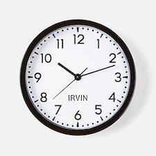 Irvin Newsroom Wall Clock