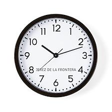 Jerez De La Frontera Newsroom Wall Clock