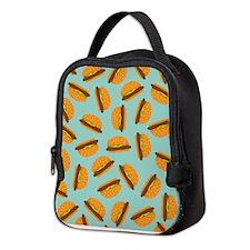 Cute Burger Pattern Neoprene Lunch Bag