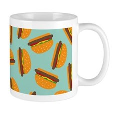 Cute Burger Pattern Mugs