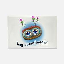 Hoots Toots Haggis 'Hugs' Rectangle Magnet