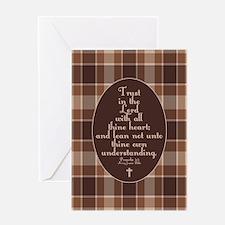 Proverbs 3:5 Bible Verse Greeting Card