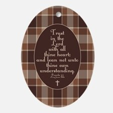 Proverbs 3:5 Bible Verse Ornament (Oval)