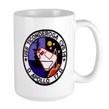 USS Ticonderoga & Apollo 17 Mug
