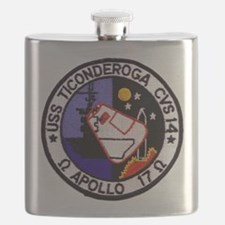 USS Ticonderoga & Apollo 17 Flask