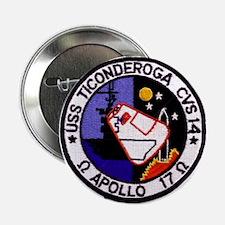"""USS Ticonderoga & Apollo 17 2.25"""" Button"""