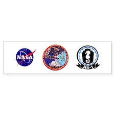 USS Ticonderoga & Apollo 16 Bumper Sticker