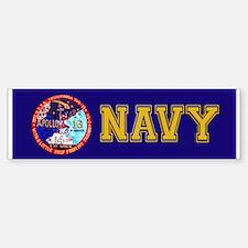 USS Ticonderoga & Apollo 16 Bumper Bumper Sticker
