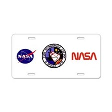 USS Ticonderoga & Apollo 17 Aluminum License Plate