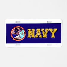 USS Ticonderoga & Apollo 16 Aluminum License Plate