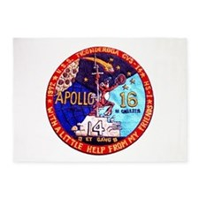 USS Ticonderoga & Apollo 16 5'x7'Area Rug