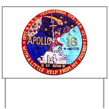 USS Ticonderoga & Apollo 16 Yard Sign