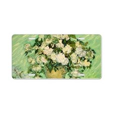 van gogh roses Aluminum License Plate