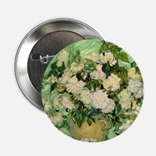 "van gogh roses 2.25"" Button (10 pack)"