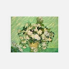 van gogh roses 5'x7'Area Rug