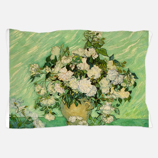 van gogh roses Pillow Case