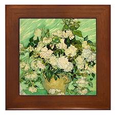 van gogh roses Framed Tile