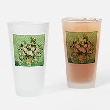 van gogh roses Drinking Glass