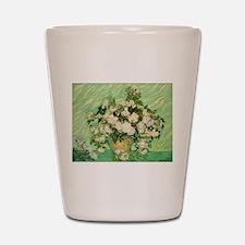 van gogh roses Shot Glass