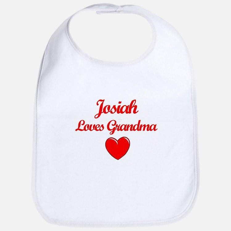 Josiah Loves Grandma Bib