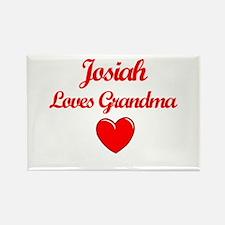 Josiah Loves Grandma Rectangle Magnet