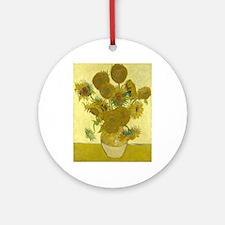 van gogh sunflowers Ornament (Round)