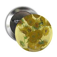 "van gogh sunflowers 2.25"" Button"