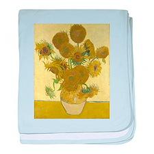 van gogh sunflowers baby blanket