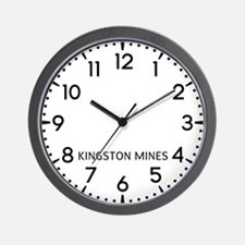 Kingston Mines Newsroom Wall Clock